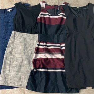 4 extra small/small work dresses